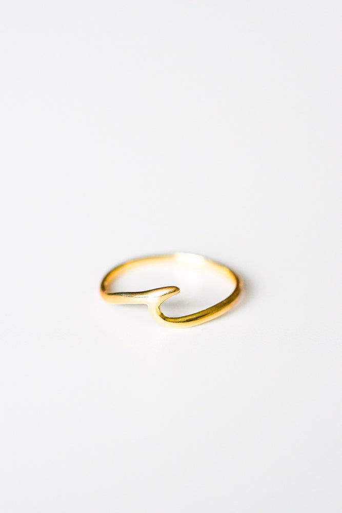 Tenerife Gold Wave Ring