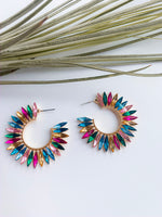Anguilla statement hoop earrings