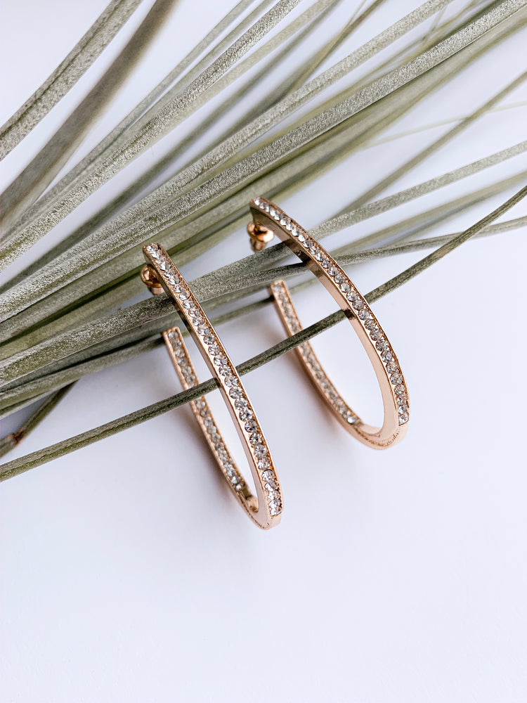 Milan hoop earrings