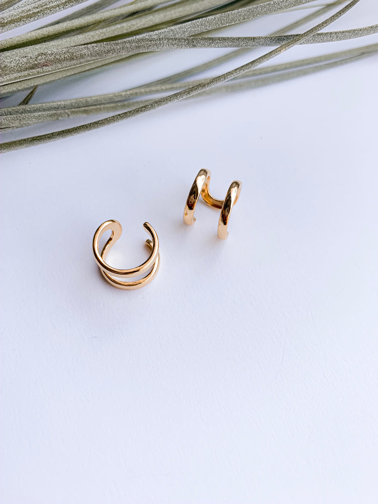 Williamsburg ear cuff set of 2