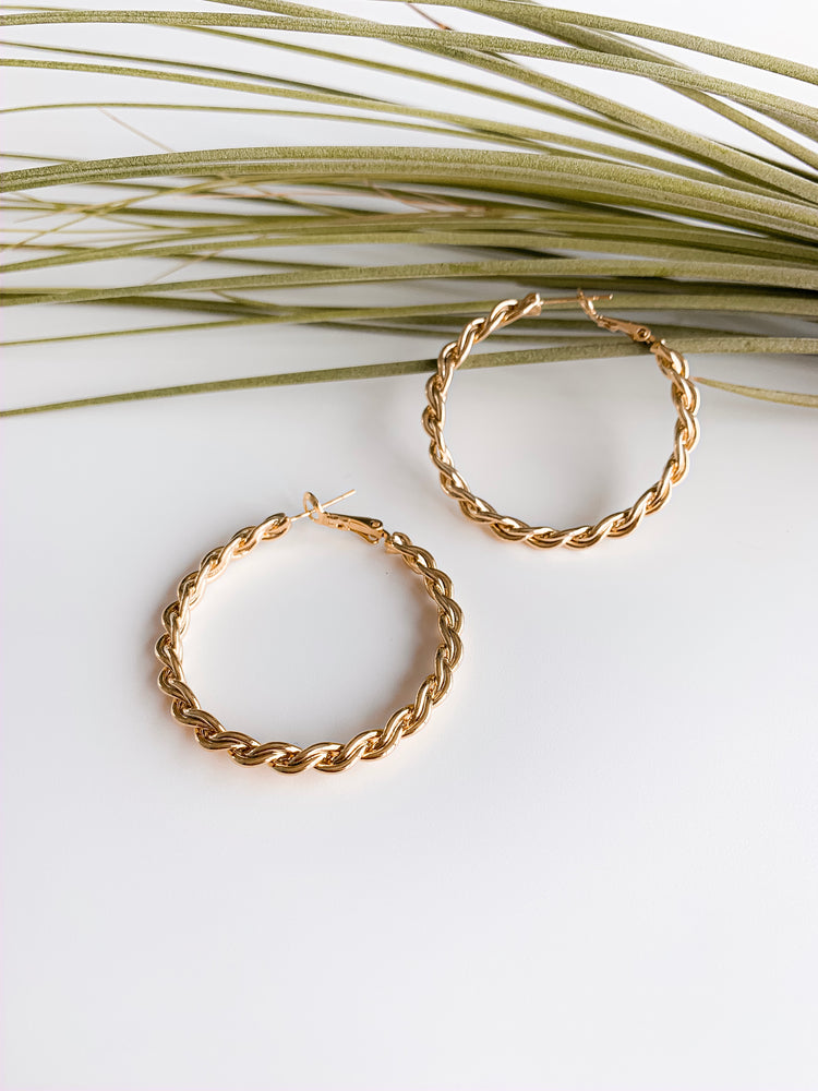 Osaka Twisted Gold Hoops