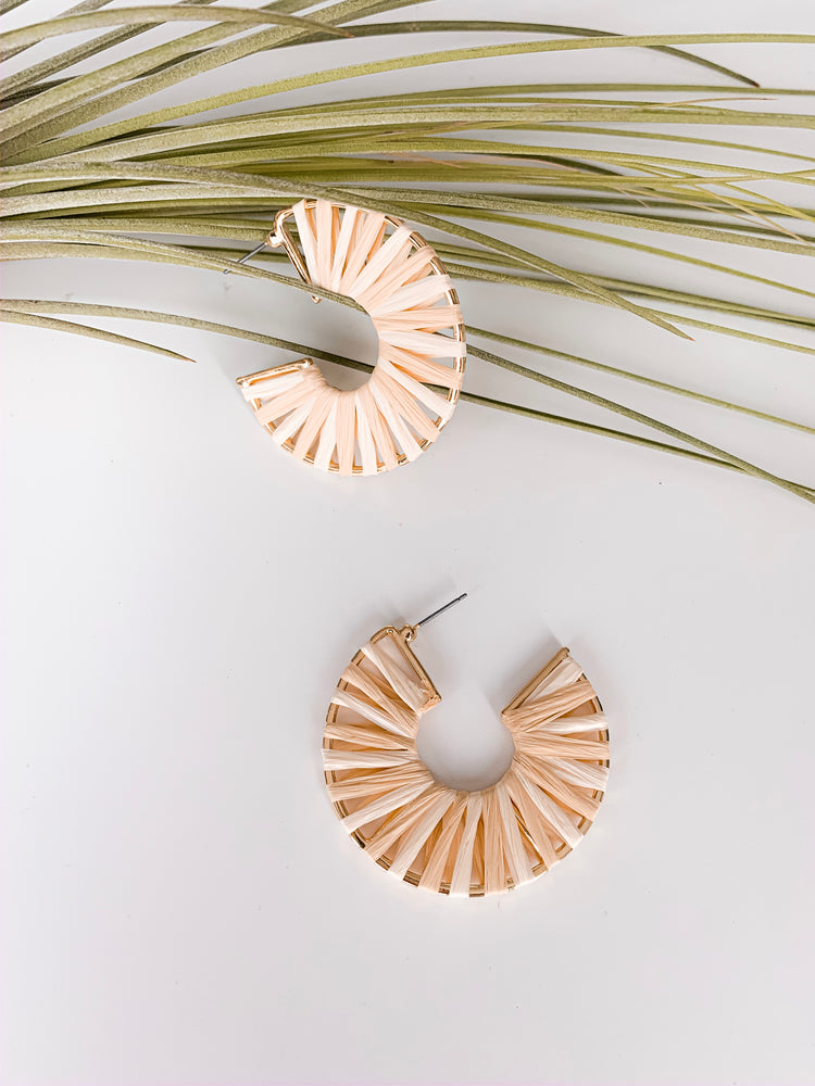 Malaga Raffia Hoop Earrings