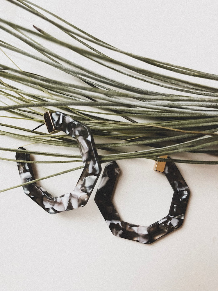 Avignon Acetate Hoop Earrings