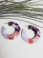Costa Rica Acetate Hoop Earrings