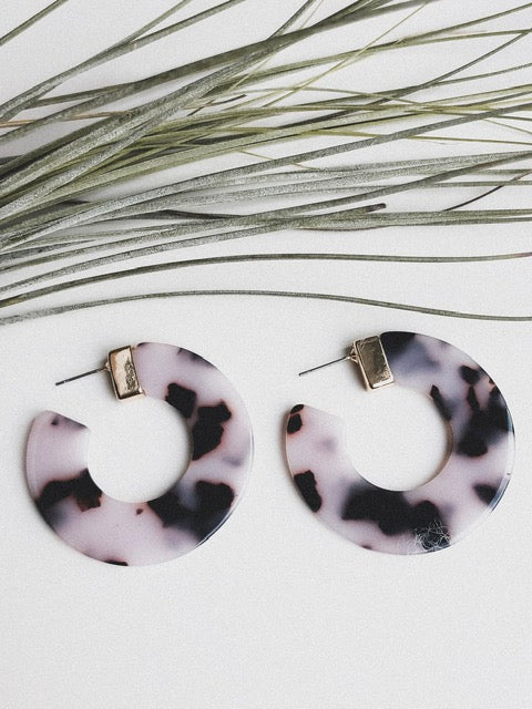 Violet Acetate Hoop Earrings