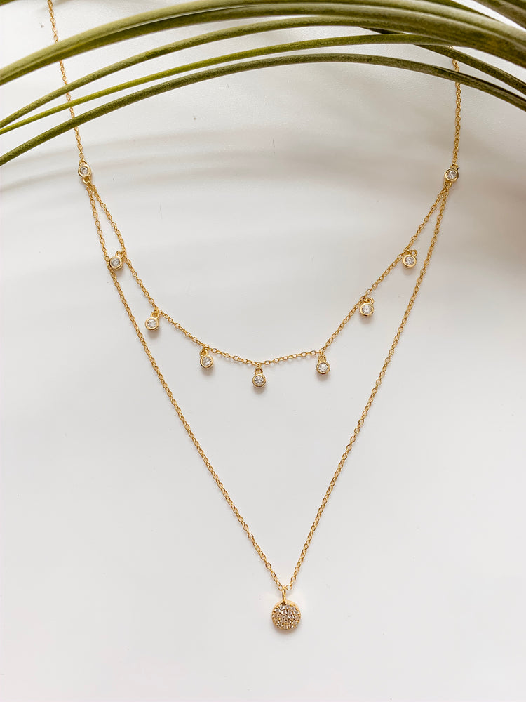 Monaco Double Layer Necklace in Gold