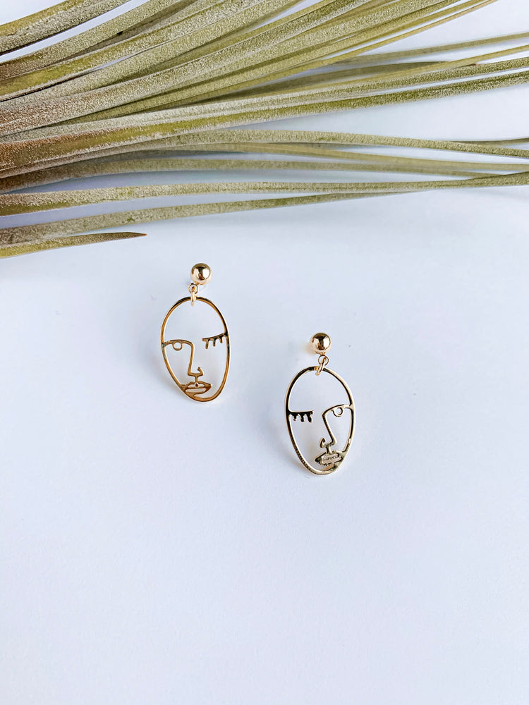 Turin Mini Faces Earrings