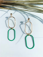 Boston 2 color drop earrings. More colors