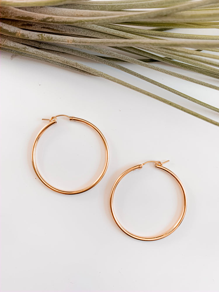 Vienna Gold Filled Hoops. More Sizes.