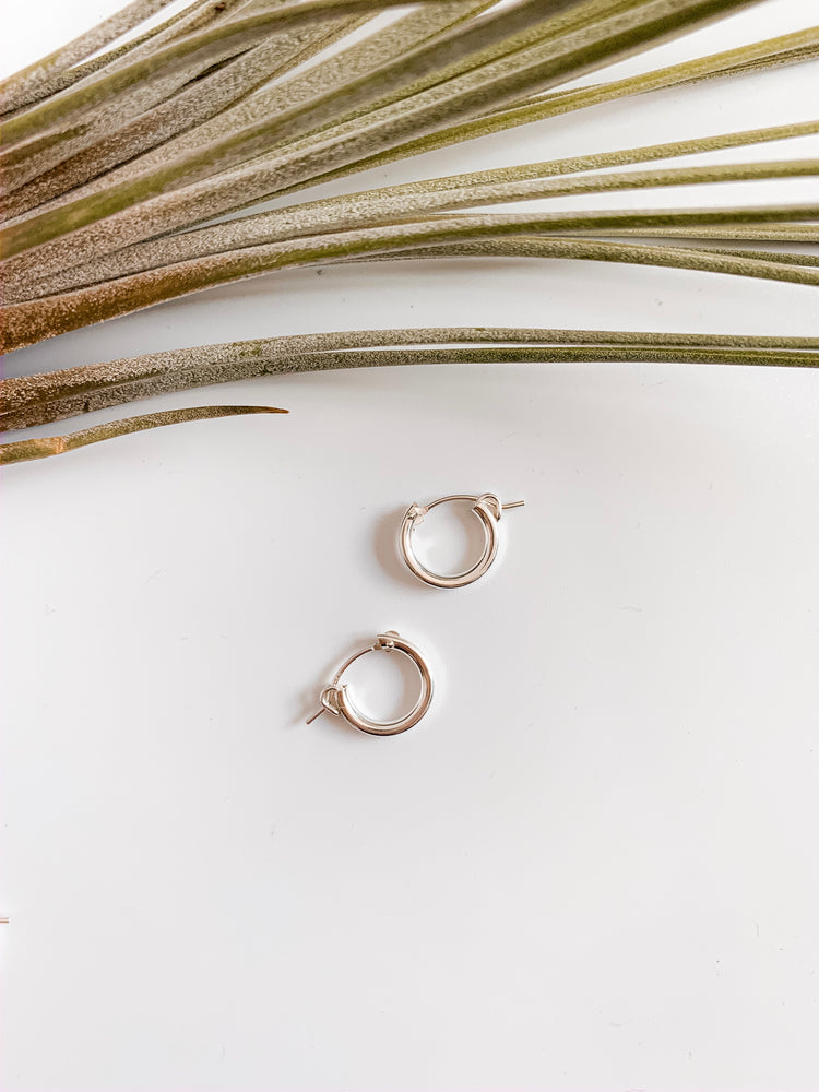 Vienna Sterling Silver Hoops. More sizes.