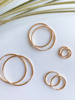 Madrid Seamless Gold Filled Hoops. More Sizes.