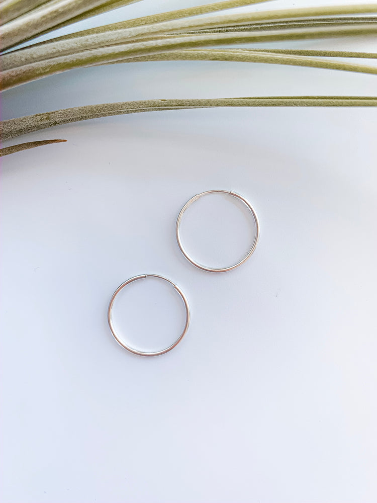 Madrid Seamless Sterling Silver Hoops
