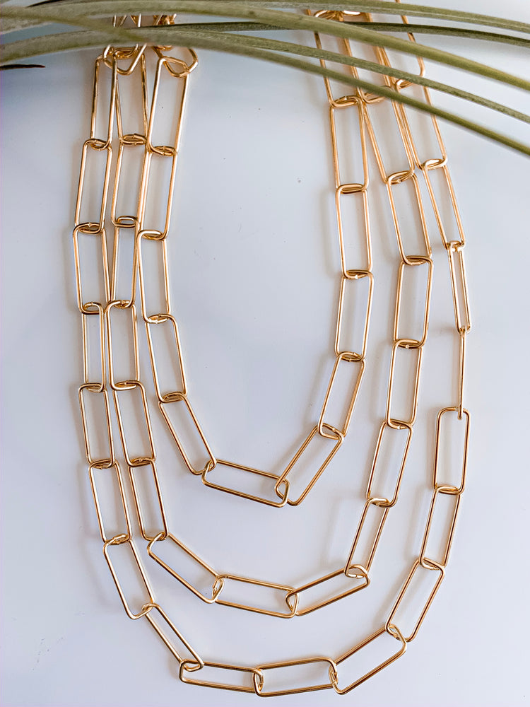 Moscow Three Layers Link Necklace
