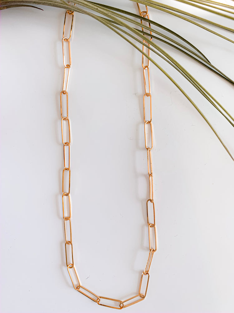 Basel Long Link Necklace