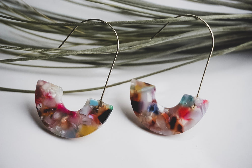 Mini Maple Resin Drop Earrings