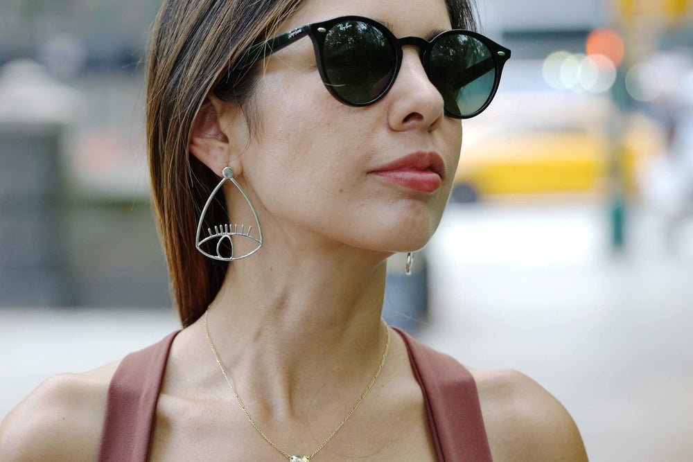 Santorini Silver Alloy Drop Earrings