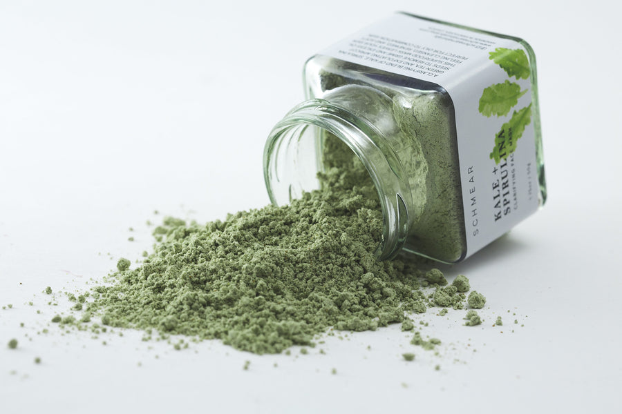 100% Natural Food Based - Kale + Spirulina Clarifying Face Mask
