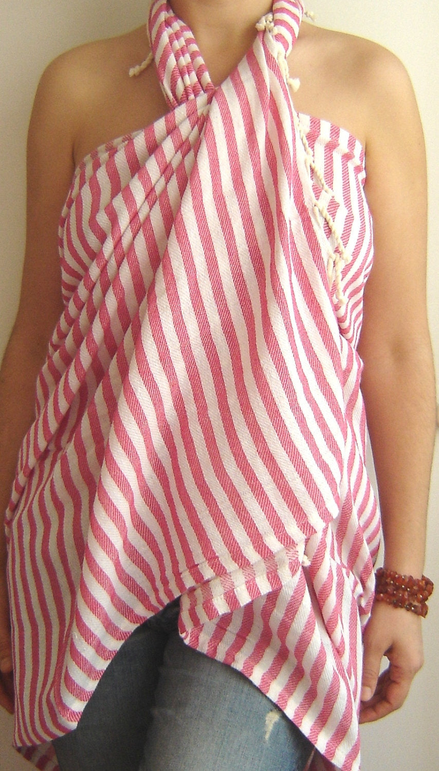 Hot Pink Turkish Towel, Peshtemal, Bath, Beach, Spa Towel