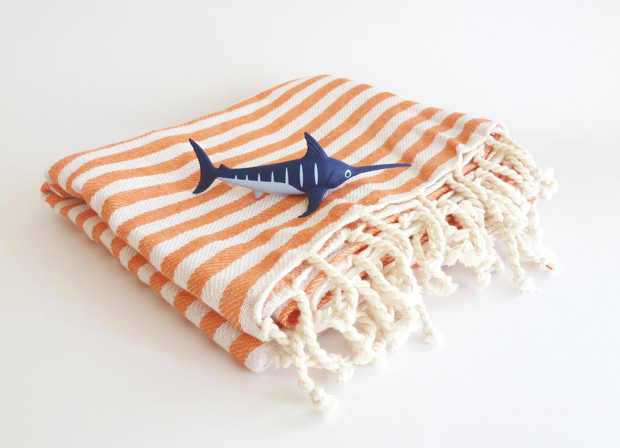 Turkish Towel, Peshtemal, Beach towel, Bath, Yoga, Orange
