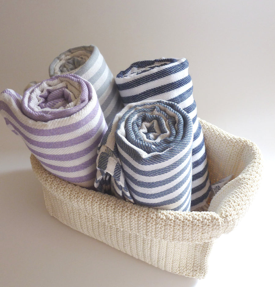 Turkish Towel, Peshtemal, Beach Sarong, Yoga, Spa, Striped Beach Towel, Lilac