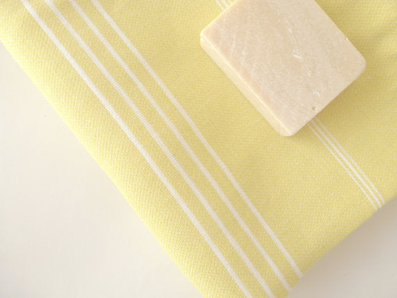 Turkish Towel, Spa Towel, Yellow