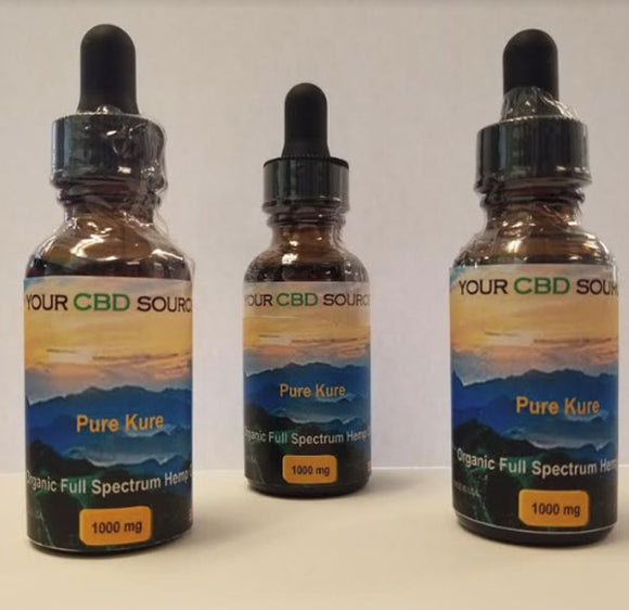 Organic CBD Hemp Oil 1000mg. Non-GMO
