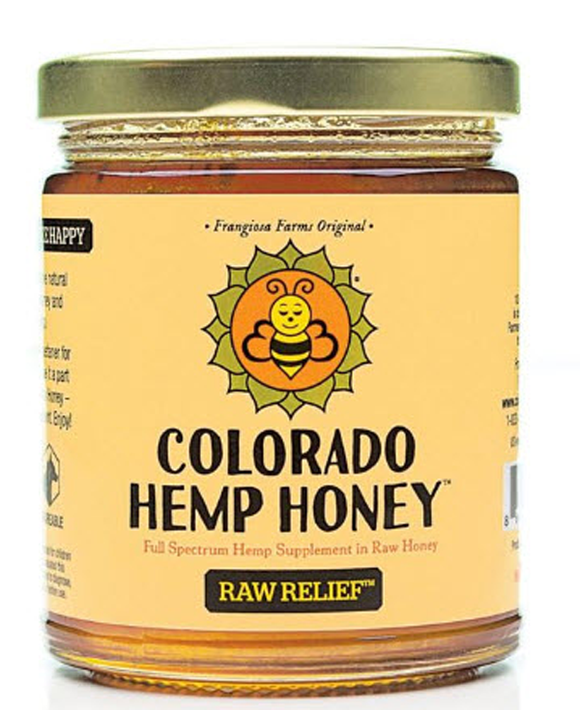 Colorado Hemp Honey Raw Relief 12oz 1000mg. Creamed Honey.