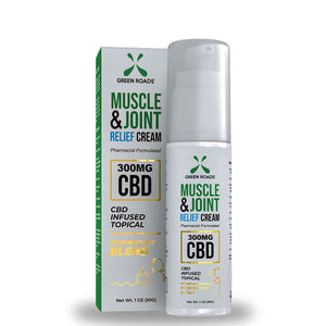 Green Roads Muscle & Joint Relief Cream 1oz size with 300mg of CBD