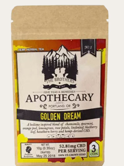 Golden Dream Hemp CBD Chamomile Tea – A Dreamy Blend to Settle the Soul