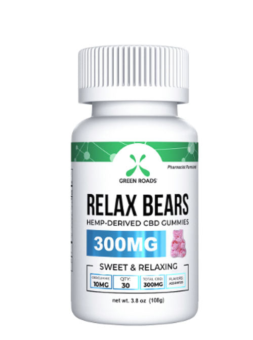CBD Relax Gummy Bears. Pharmacist-Formulated Total CBD 300 mg