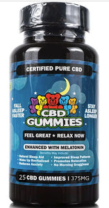 CBD Sleep Gummies 25-Count 5 mg of Melatonin per Gummy Non-THC