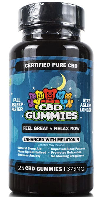 CBD Sleep Gummies - 25 Count.   5 mg of Melatonin per Gummy Non-THC