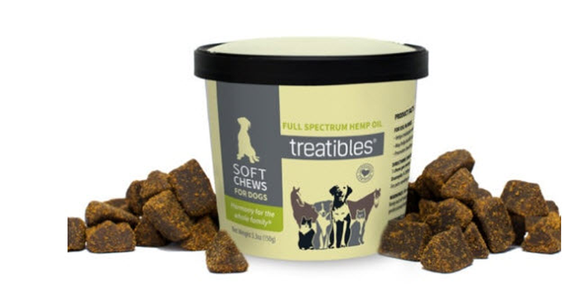Treatibles Soft Chews for Dogs (60ct) Organic Broad Spectrum Hemp Oil