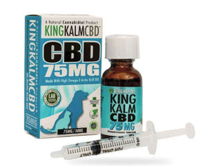 KingKalm Dog CBD Oil 75mg Made From High Quality Hemp-Derived