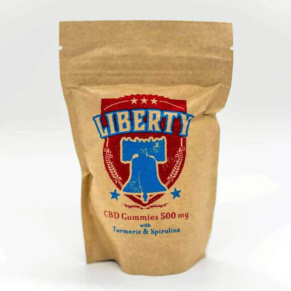 Liberty CBD Gummies - 500mg Pure Infused 10mg CBD per Gummy. Anxiety, Insomnia, Inflammation, Pain and Stress.