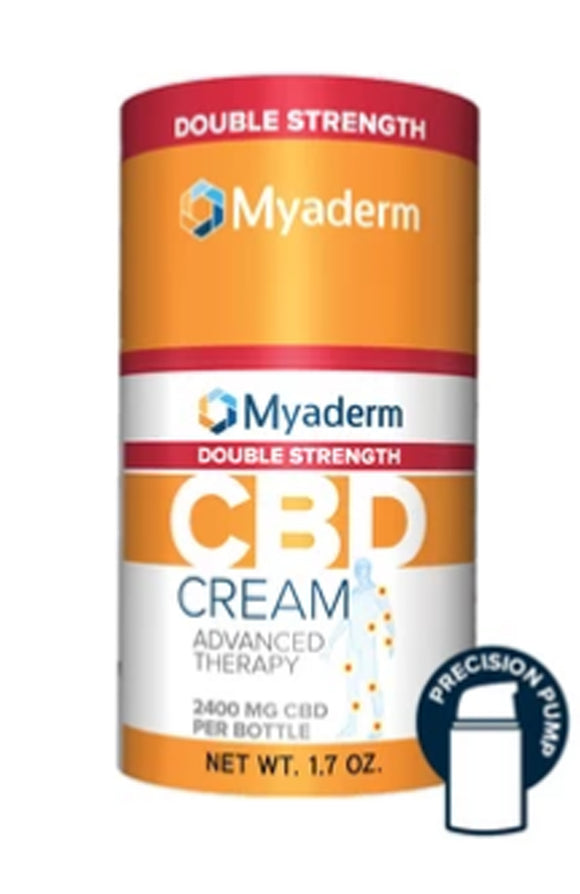 Myaderm Double Strength CBD Advanced Therapy Cream, 1.7oz. 2400mg.