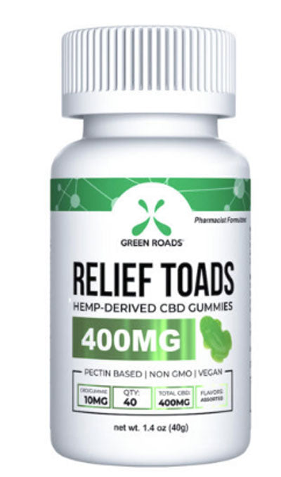 CBD Relief Toads 400 mg. Pharmacist-Formulated Total CBD 400 mg