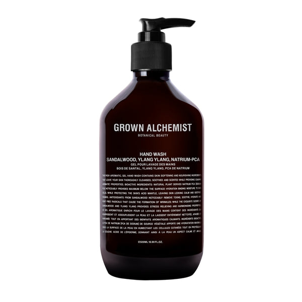 Grown Alchemist Gel nettoyant mains - Bois de Santal & Ylang Ylang - Liquides Confidentiels