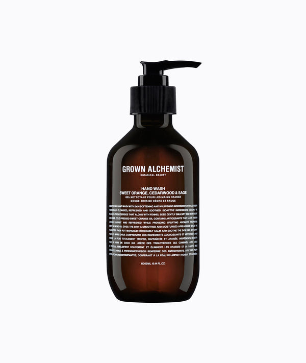 Grown Alchemist Gel nettoyant mains - Orange douce, Cèdre & Sauge - Liquides Confidentiels