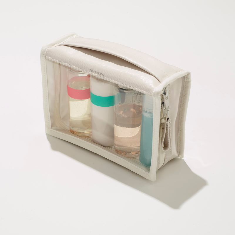 Take Monday medium white washbag vegan travel case everyday carry