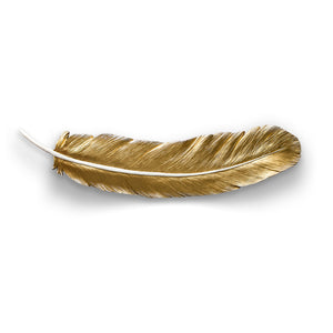 Feather Wall Accent - Gold