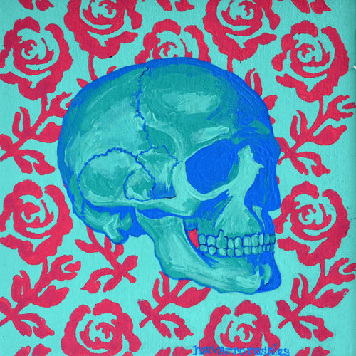 BLUE SKULL WITH