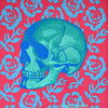 BLUE SKULL WITH ROSES