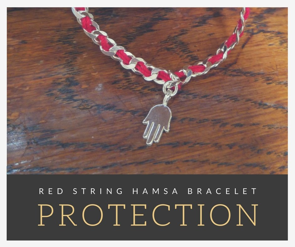 red string good luck and fortune hamsa hand bracelet