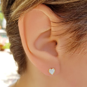 Heart Diamond Earrings to Celebrate your love