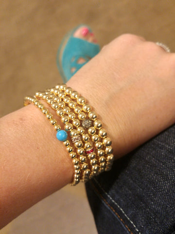 gold beaded bracelets from 2016