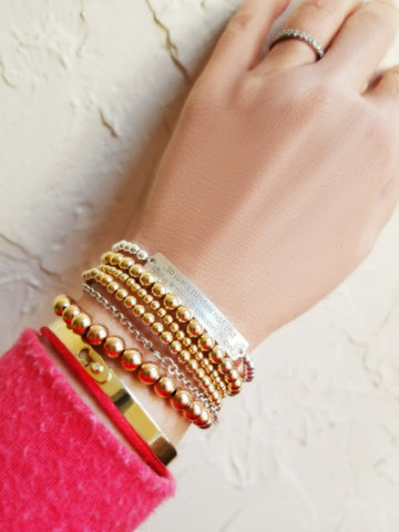 mix and match your bracelets with other jewelry