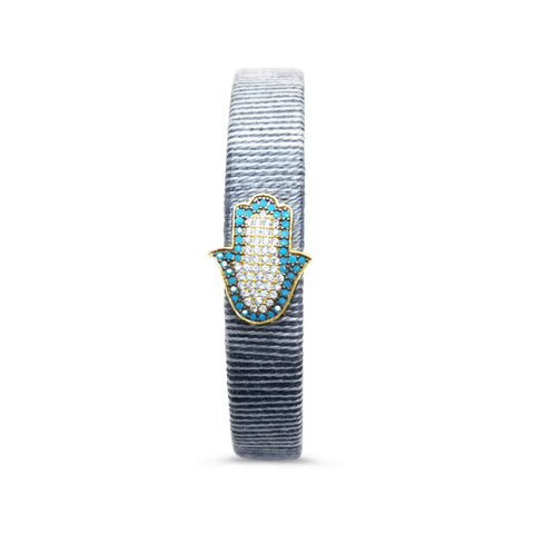 grey hamsa bracelet bangle