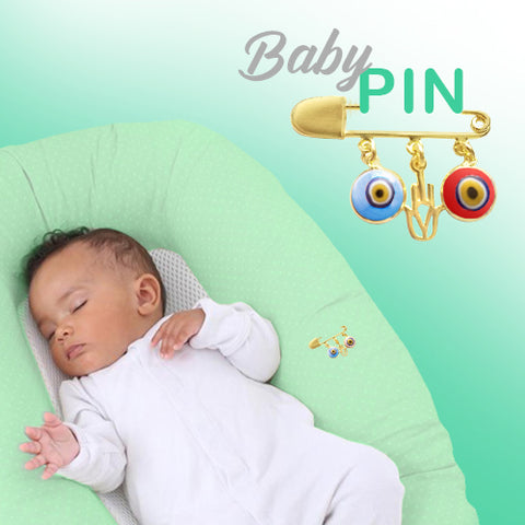evil eye baby stroller crib pin