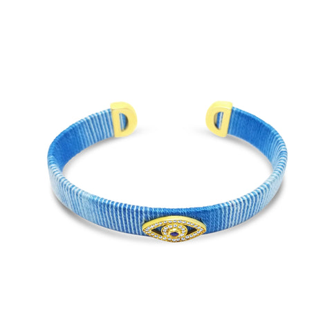 bangle bracelet with evil eye
